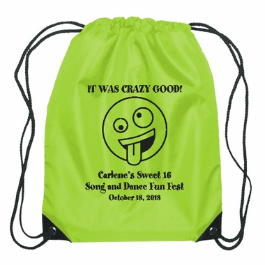 Emoji Theme Party Drawstring Backsack