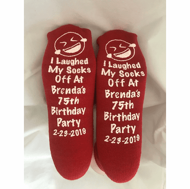 Emoji Theme Party Socks Personalized