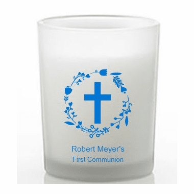 First Communion Candle Favors Custom