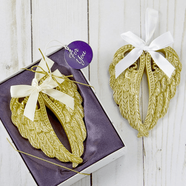 Gold Angel Wings Ornaments