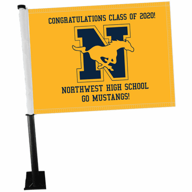 Graduation Car Window Flags