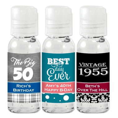 Hand Sanitizer Birthday Favors