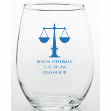 Law School Graduation Glass