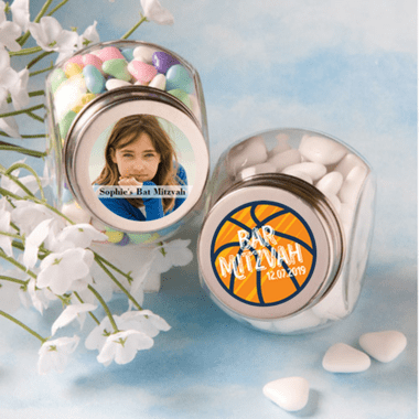 Small Logo or Photo Jars with labels that you apply