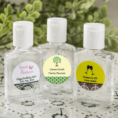 Mini Hand Sanitizers- You apply labels