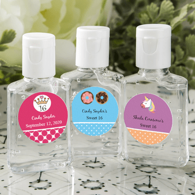 Mini Hand  Sanitizers - You apply labels