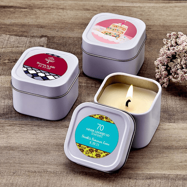 Mini Travel Candles - You apply label
