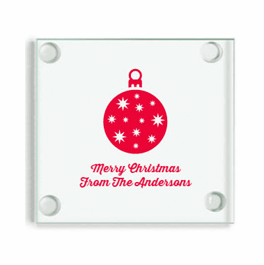 Personalized Christmas Favors Coasters