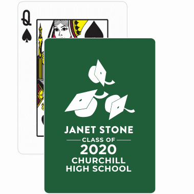Personalized Graduation  Playing Cards