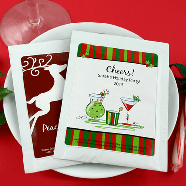 Personalized Hot Cocoa Winter Party Favors