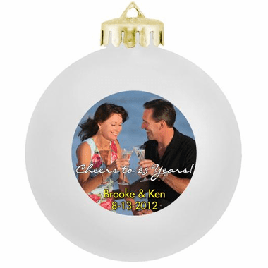 Photo Christmas Ornaments Anniversary