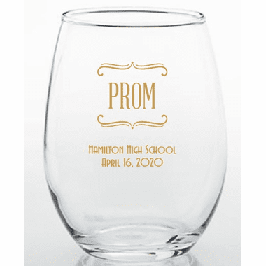 Prom Glass Trinket Holder 15 oz