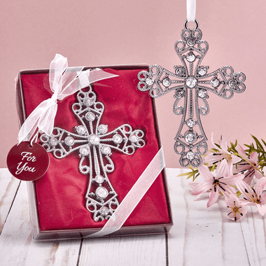 Rhinestone Cross Ornaments