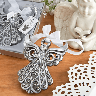 Silver Angel Ornaments