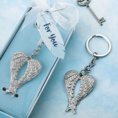 Silver Angel Wings Key Chains