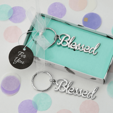 Silver Blessed Key Chains