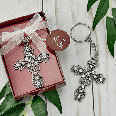 Silver Cross Key Chains