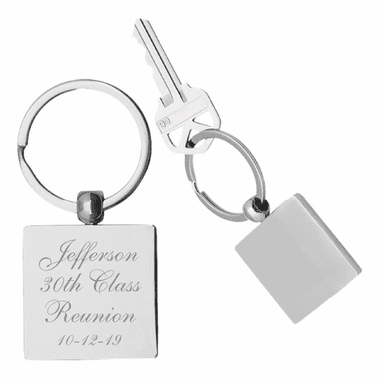 Silver Engraved Keychains