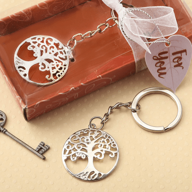 Silver Tree Family Tree Key Ring