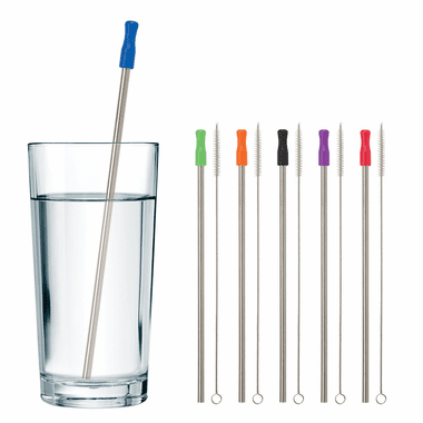 Stainless Steel Straws - No imprint - Set of 100