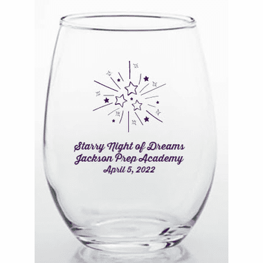 Starry Night Stemless Glasses
