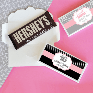 Sweet 16 Candy Bar Wrappers