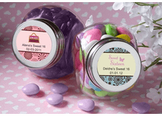 Sweet 16 Glass Jars