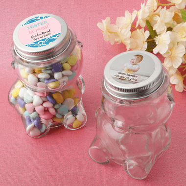 Teddy Bear Jars Baby Baptism Favors