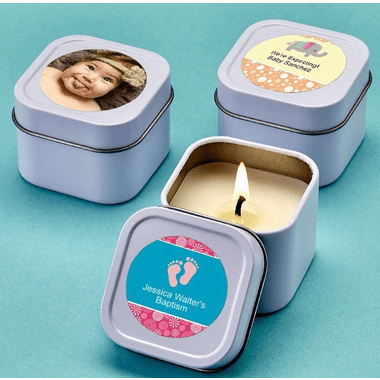 Travel Tin Candles - You apply labels