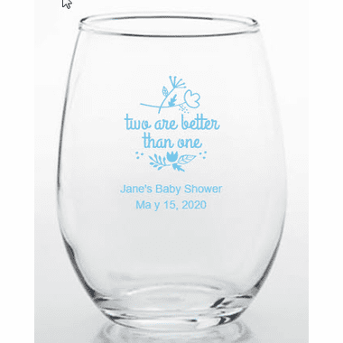 Twins Baby Shower Favors Glass