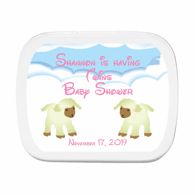 Twins Baby Shower Ideas Mint Tin Favors