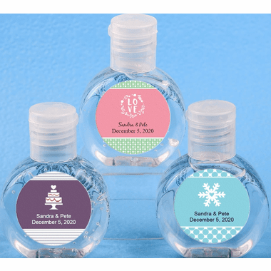 Wedding Hand Sanitizer Party Favors 2 oz - You apply labels