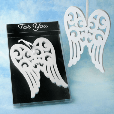 Wood Angel Wing Ornaments