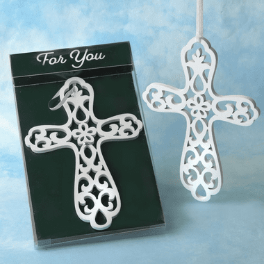 Wood Cross Ornaments