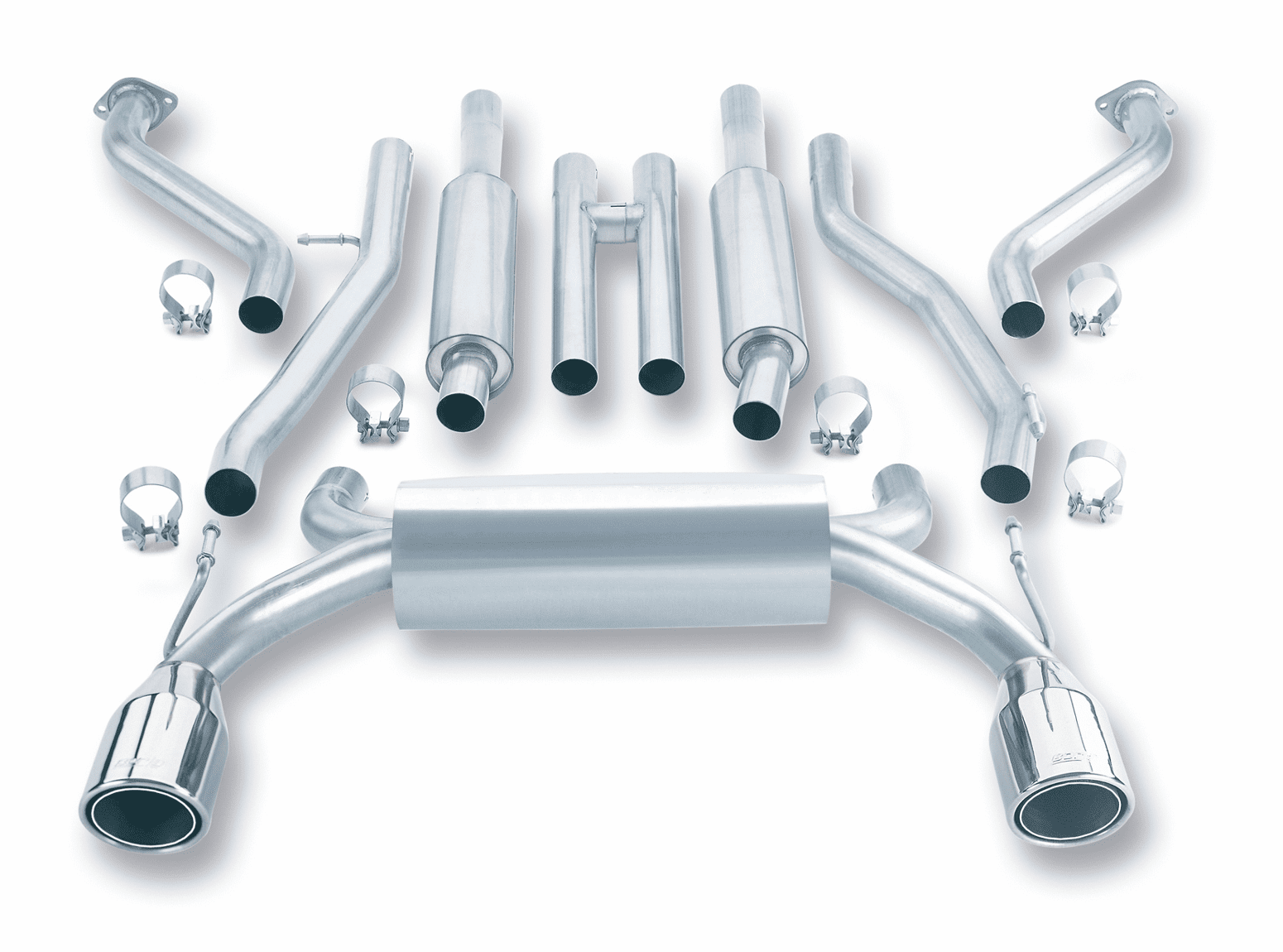 Borla True Dual Cat-Back Exhaust System Part # 140045 for the 2003 - 2007 Nissan 350Z