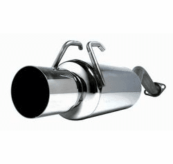 DC Sports Single Canister System, Axle-back Stainless Steel Exhaust Part # SCS7035 for the 2006-2007 Civic Si