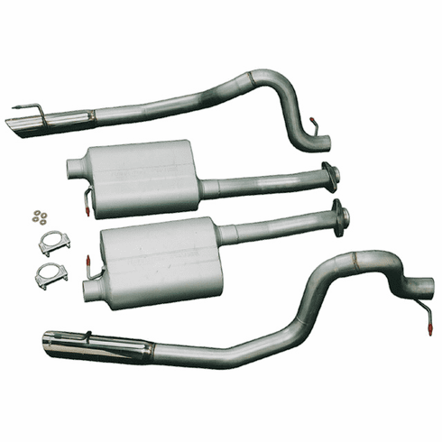 Flowmaster American Thunder Force II Cat-back Exhaust System Part # 17267 for the 1999 - 2004 Mustang GT / Mach 1 / Bullitt