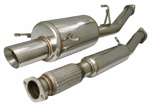 Injen Full 76mm Cat-Back Exhaust System with 4 inch tip Part # SES1201RS for the 2002 - 2005 Subaru WRX