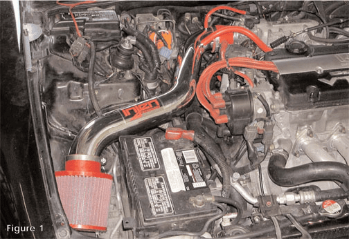 Injen Short Ram Intake System Part # IS1700P for the 1992 - 1996 Honda Prelude