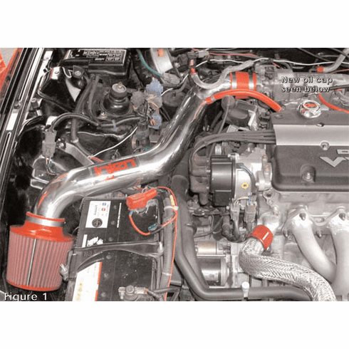 Injen Short Ram Intake System Part # IS1720P for the 1997 - 2001 Honda Prelude