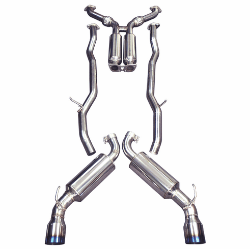 Injen Super SES 60mm S.S. true dual Exhaust System with Titanium Tips Part # SES1986TT for the 2003 - 2006 Nissan 350Z