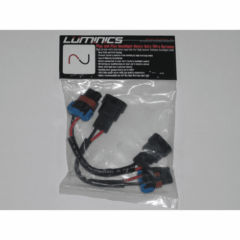 Luminics Plug and Play 9005 and 9005XS Wire Harnesses Part # LH-9005