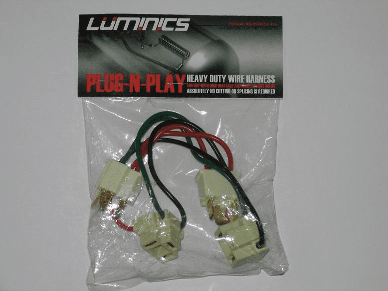 Luminics Plug and Play H4 Wire Harnesses Part # LH-H4