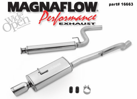 Magnaflow 2.5 Inch cat-back exhaust system Part # 16663 for the 2004 - 2007 Ion Redline