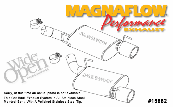 Magnaflow Axel-Back Exhaust System Part # 15882 for the 2005-2007 Mustang GT & 2007 Shelby GT500 Supercharged