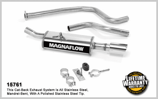 Magnaflow Cat-Back Exhaust System for the 1996 - 2005 Chevrolet Cavalier and Pontiac Sunfire