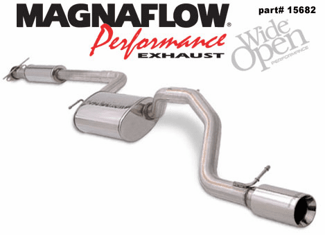 Magnaflow Cat Back Exhaust System Part # 15682 for the 2000 - 2003 Ford Focus ZX3 & ZX5