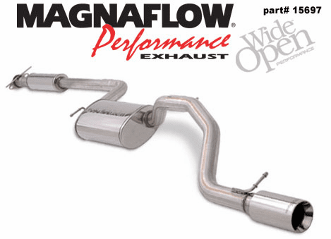 Magnaflow Cat Back Exhaust System Part # 15697 for the 2000 - 2003 Ford Focus ZX4