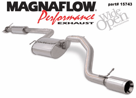 Magnaflow Cat Back Exhaust System Part # 15743 for the 2002 - 2004 Ford Focus SVT