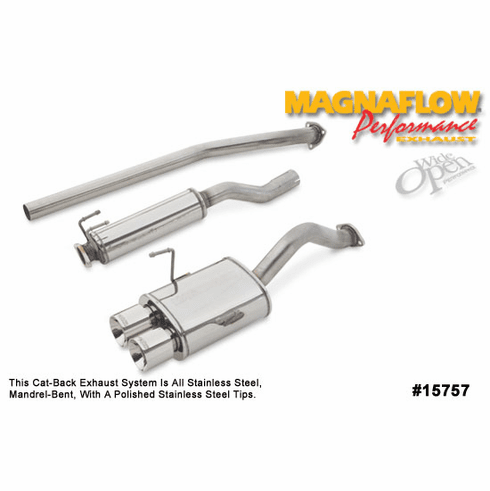 Magnaflow Cat-Back Exhaust System Part # 15757 for the 2002 - 2005 Honda Civic Si